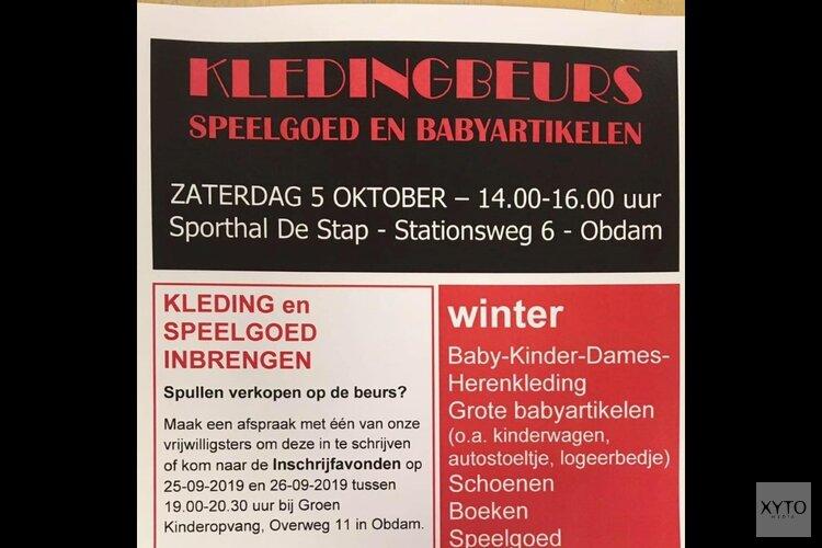 Winterkleding- en speelgoedbeurs op zaterdag 5 oktober