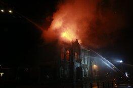 Grote brand in voormalig gemeentehuis in Obdam