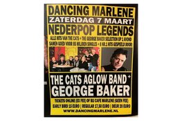 Komende zaterdag George Baker en The Cats Aglow Band in Marlene