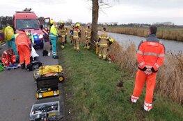 Auto te water langs Oostdijk, geen inzittenden aangetroffen